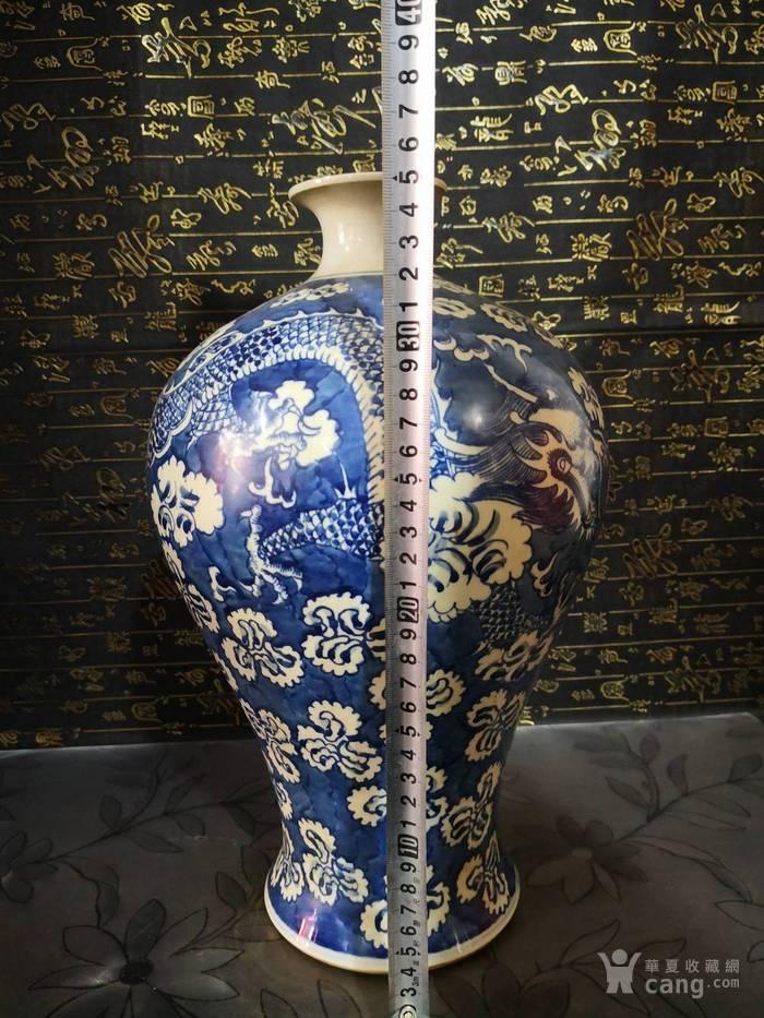 清道光青花龙纹梅瓶图8