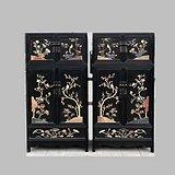 古典家具木器 百宝嵌 顶箱柜一对