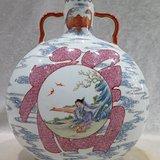 乾隆粉彩福寿瓶