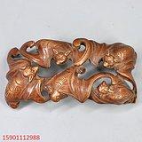清代黄杨木雕刻五福文房磨床