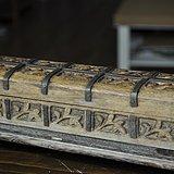 欧洲手工雕老木盒