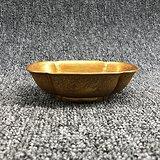 铜鎏金刻花鸟花口碗老金银器盛具碗老鎏金碗