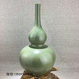 清代传世乾隆茶末釉葫芦瓶
