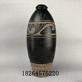 老瓷器*瓷器宋元时期磁州窑黑剔花梅瓶*瓷器古董老货老古玩