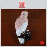 景德镇文革老厂货瓷器 部所高温颜色釉鹦鹉挂瓶