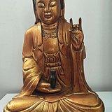 观音木雕像