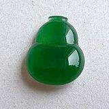 润玉楼 天然A货翡翠  0412 冰种满绿葫芦镶件