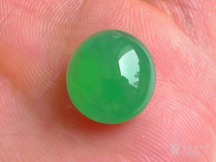 润玉楼 天然A货翡翠  0412 冰种满绿蛋面图8