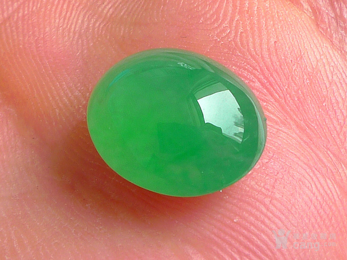 润玉楼 天然A货翡翠  0412 冰种满绿蛋面图10