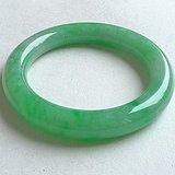 润玉楼 天然A货翡翠  0413 满绿圆条手镯 56.5mm