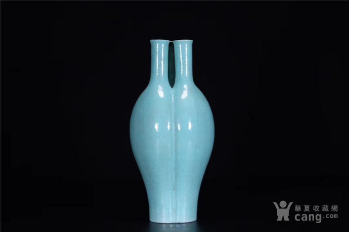 x欧洲回流:清.松石绿釉三管瓶图2