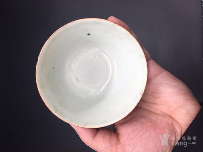 清代矾红诗文杯图3